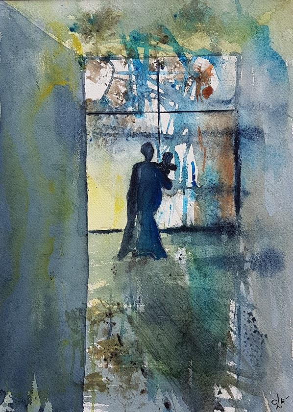 Stillhet. Akvarell. 38x27